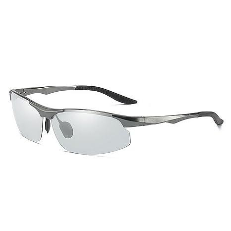 Deportes ultraligeros Gafas de sol de decoloración fotocromáticas de aluminio del marco del magnesio del estilo