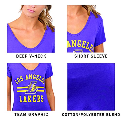 outlet store d3046 70dcf UNK NBA Women s T-Shirt V-Neck Relaxed Short Sleeve Tee Shirt, Team