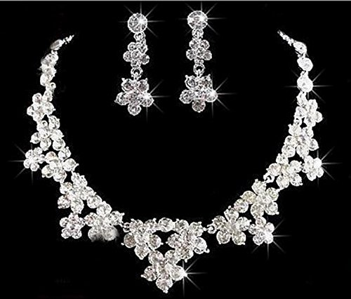 Taoqiao Bridal Jewelry Bow Necklace Fashion Alloy Necklace Set