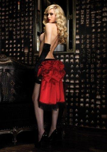 Leg Avenue - Bombshell Bustle Skirt - Burlesque - One Size - Red - A1696 by leg avenue