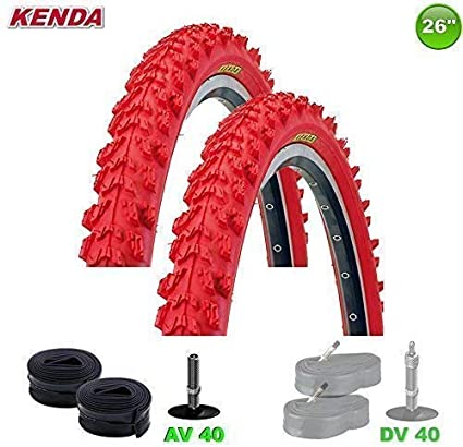 2x Kenda MTB Neumático de la bicicleta cubierta + 2 Mangueras AV ...