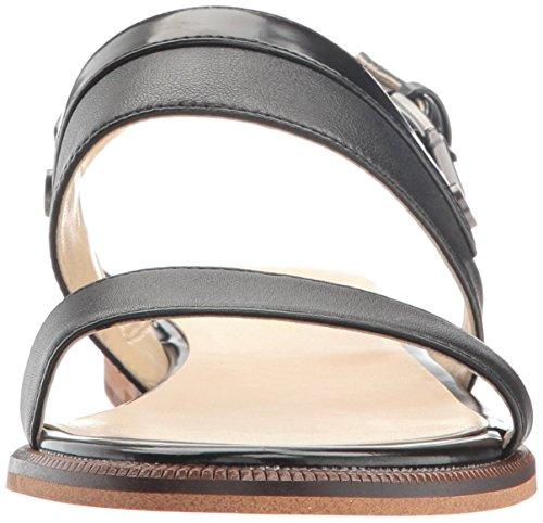 Black Onalda Dress Sandal Nine West Women's Leather FHqqzgw