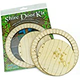 PEAKDALE fairy fay Shire door kit set wood wooden to paint and decorate by Peak Dale