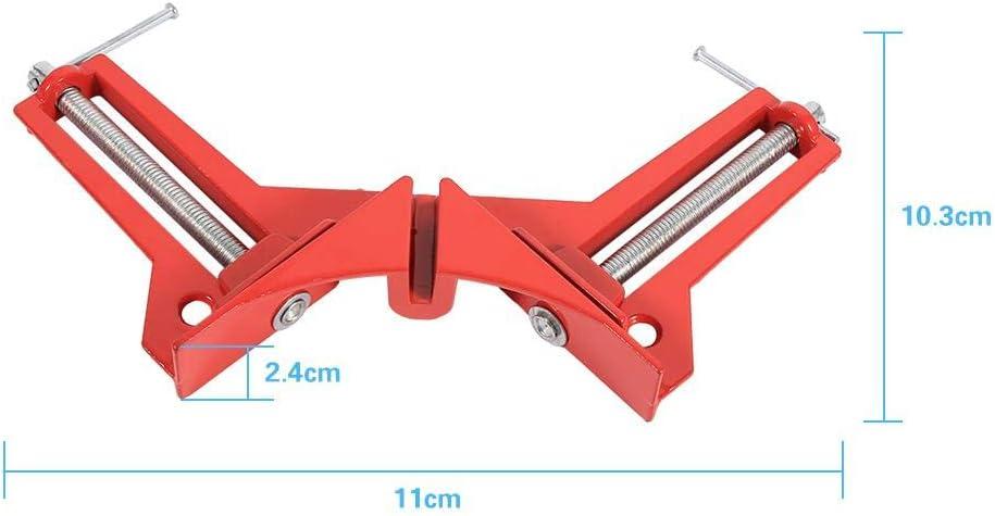 Vobor Abrazadera de Esquina de /ángulo Recto Herramienta de carpinter/ía con Abrazadera de Soporte de Marco Rojo