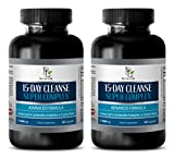 Product review for weight loss essential oil blend - 15 DAYS CLEANSE SUPER COMPLEX - ADVANCED FORMULA - 1180MG - psyllium husk powder pills - 2 Bottles 60 Capsules