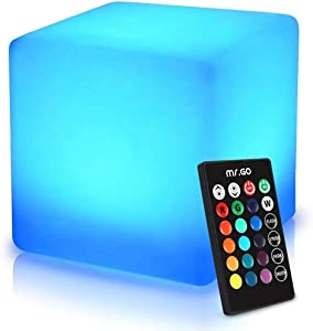 ENAL1 LED Stool Square Cube Luminous Led Furniture Light LED Chair/Table for Home/Bar/Party Decorative Lamp Outdoor Party Wedding Garden Decor Lighting Furnitures Footstools (Size : 15×15×15cm)