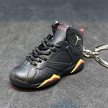 e4566276829f99 Air Jordan VII 7 Retro Citrus Black Red OG Sneakers Shoes 3D Keychain Figure