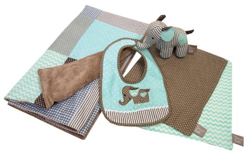 - Trend Lab Cocoa Mint Gift Set, Mint Green/Taupe, 5 Piece