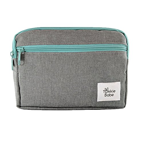TOKKIE BABE Baby Carrier Extension Storage Pouch – Fit All Essentials for Diapers, Changing Pad, Wipes, Pacifiers, Smart Phones and Wallets Compatible with Ergobaby, Lillebaby, Tula and more