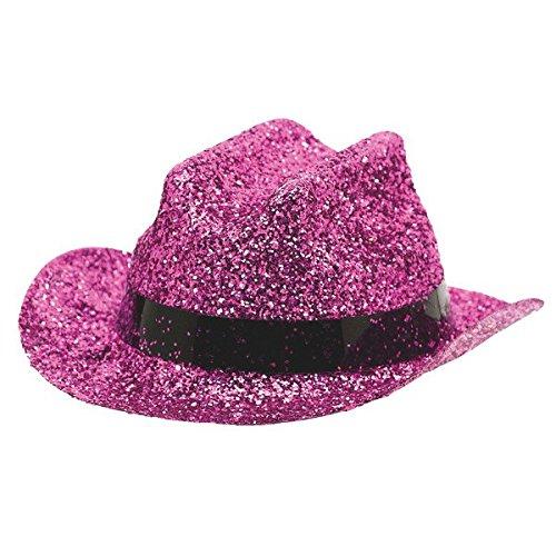 Amscan 250543.103 Mini Cowboy Party Hat, One Size, Pink