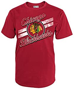 NHL Chicago Blackhawks National Hockey League Short Sleeve Tee, Medium, Athletic Red