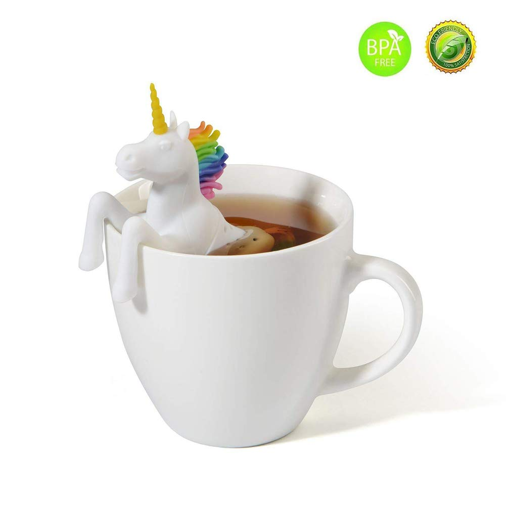 2 Pack Tea Infuser Silicone Unicorn Horse Shaped Best Tea Strainer Tools Filter for Loose Tea Leaves