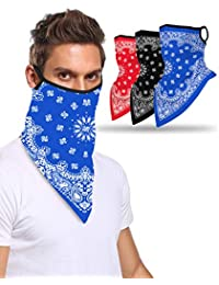 Multi-Pack Face Bandana with Ear Loops Neck Gaiter Face Scarf/Neck Cover/Face Cover for Men Women and Teens