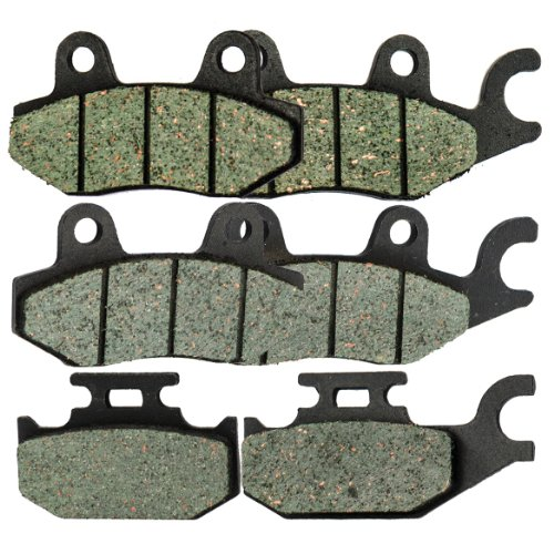 Foreverun Motor Front and Rear Brake Pads for Yamaha YXR 660 YXR660 Rhino 2004-2007 ()