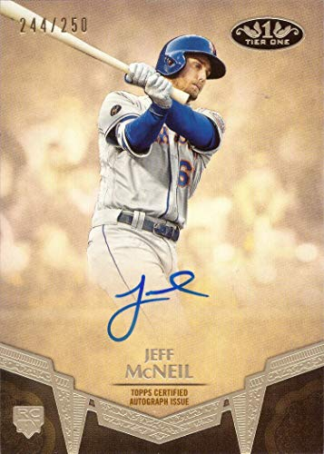 2019 Topps Tier One Baseball #BA-JM Jeff McNeil Certified Autograph Rookie Card - Only 250 made!