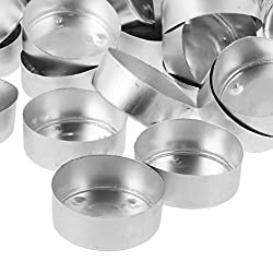 Prettyia 200 Pieces Round Shaped Aluminium Tea Lig