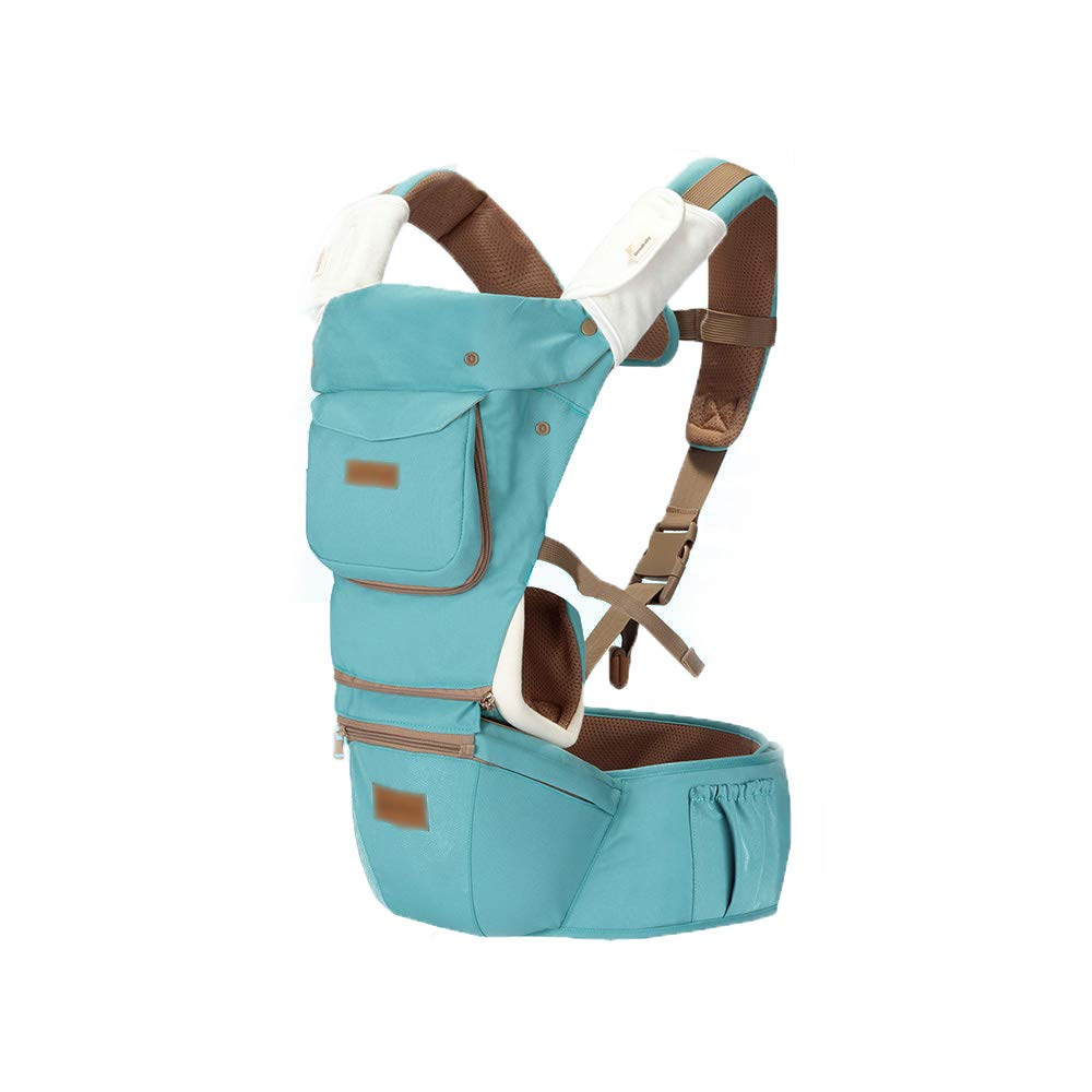 TLTLYEBD 3 In 1 Ergonomischer Baumwolltragetasche, Vier Jahreszeiten Universal, Geeignet Für 4-18 Monate Baby, Grün, Rosa (Farbe   Grün)