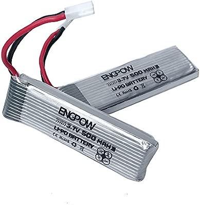 2 baterías de polímero de litio de 3,7 V 500 mAh para ...