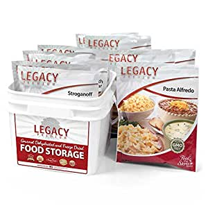 32 Serving Family 72 Hour Emergency Food Supply Kit - 8 Lbs - Disaster Relief - Survival Preparedness Supplies - Dehydrated / Freeze Dried Food Storage