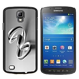 TECHCASE---Cubierta de la caja de protección para la piel dura ** Samsung Galaxy S4 Active i9295 ** --B & W Remolinos
