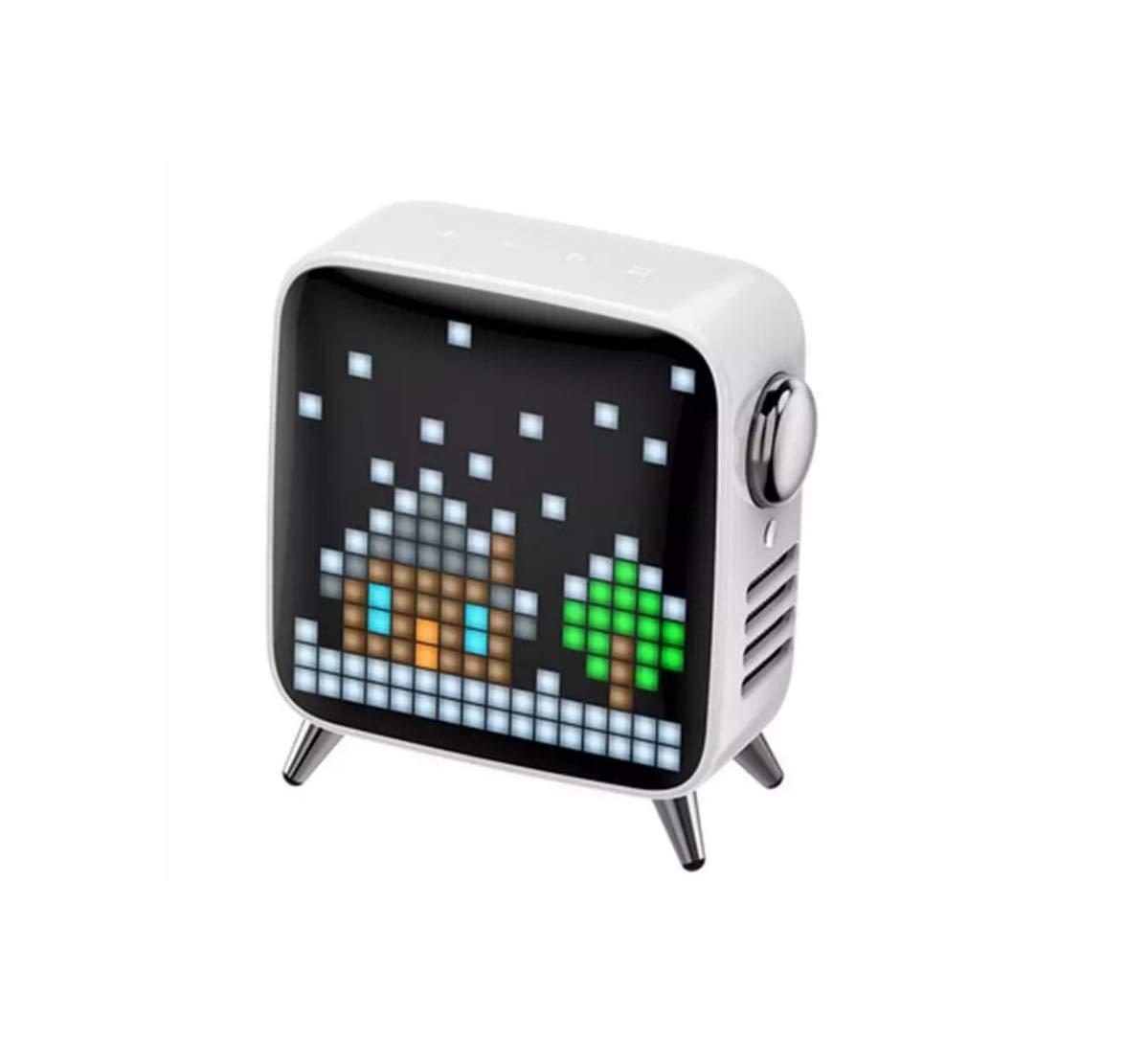 Lklmy クリエイティブピクセルスマートスピーカー3Dサラウンドハイパワースピーカーサブウーファーブルートゥーススピーカー (Color : ホワイト)   B07QGVXSH3