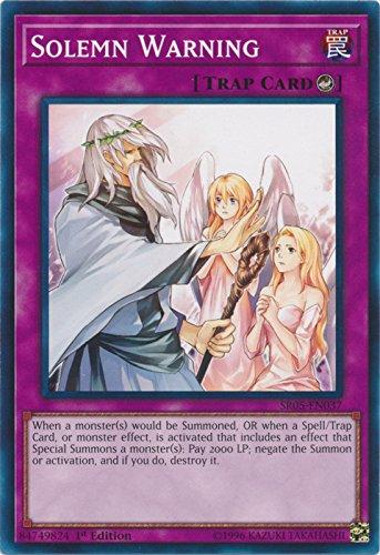 Solemn Warning - SR05-EN037 - Common - 1st Edition - Structure Deck: Wave of Light (1st - Common Card En037