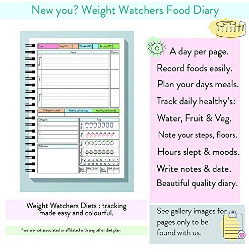 graphic relating to Weight Watchers Point Tracker Printable named Pounds Watchers Suitable Eating plan Diary for Slimming Body weight