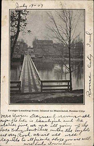 b-ridge-leading-from-island-to-mainland-rome-city-indiana-original-vintage-postcard