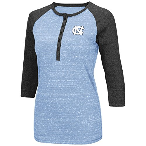 North Carolina Tarheels Womens Split 3/4 Sleeve Top (Large)