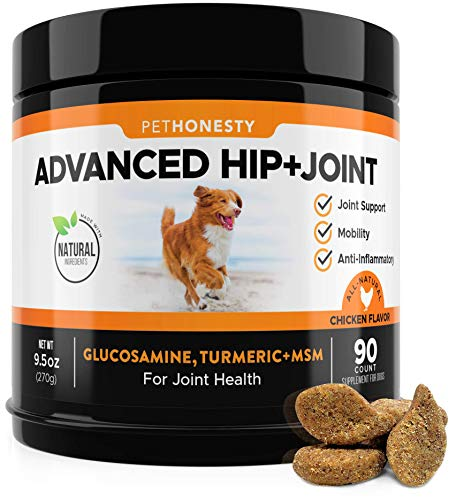 Glucosamine for Dogs - Dog Joint Supplement Support for Dogs with glucosamine Chondroitin, MSM, Turmeric - Advanced Hip and Joint Support for Dogs Chews and Pet Joint Pain Relief - 90 ct