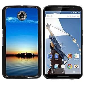 TopCaseStore / la caja del caucho duro de la cubierta de protección de la piel - Sunset Beautiful Nature 104 - Motorola NEXUS 6 / X / Moto X Pro