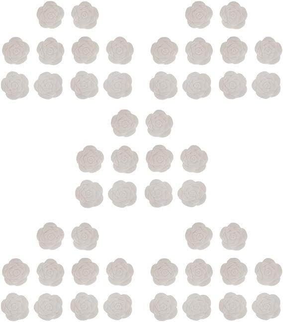 Harilla 50パックホワイトエッセンシャルオイルディフューザーの香りのアロマセラピーの石の装飾