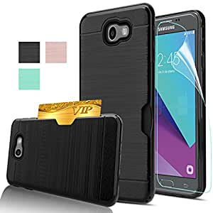 new style 49a0f 2de0c Amazon.com: Galaxy J7 Prime Case With HD Screen Protector,[Not Fit ...