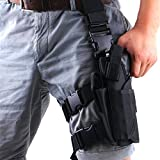 CHESSUN Adjustable Thigh Holster for Carry Pistol | Universal Leg Carry Gun Holster with Magazine Pouch (Black(Left Handed))