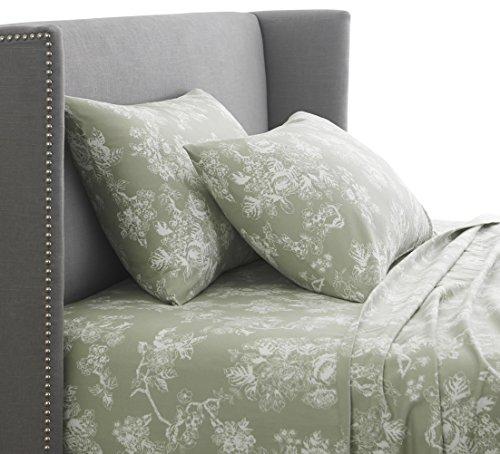 Pinzon 170 Gram Flannel Sheet Set – Full, Floral Sage