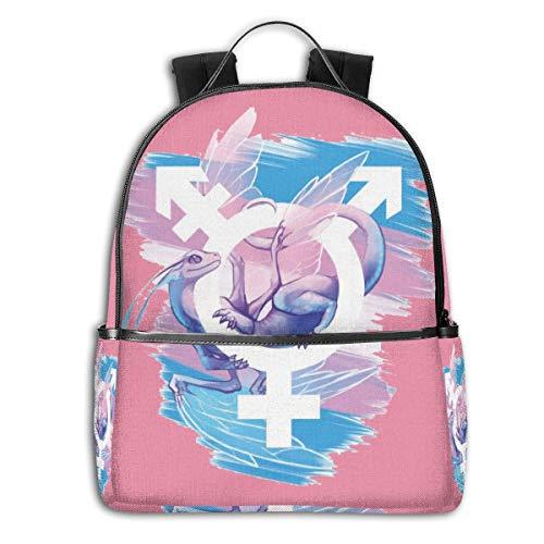 Transgender Pride Bisexual DragonMulti-Functional College Bags Students High School Girls Casual Daypack Kids Travel Backpack School Laptop Bookbags Teens Boy Outdoor Accessories