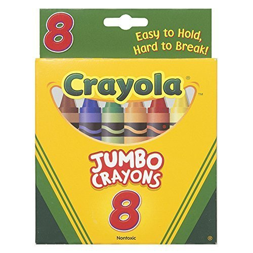 (16 Pack CRAYOLA LLC FORMERLY BINNEY & SMITH CRAYONS JUMBO 8CT PEGGABLE TUCK BOX)