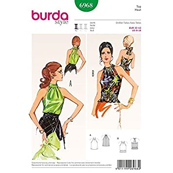 Amazon.de: Burda Sewing pattern 6968 Burda Style Vintage Stylish ...