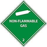 DL6AL National Marker Dot Shipping Labels, NON-FLAMMABLE Gas 2, 4 Inches x 4 Inches, Ps Paper, 500/Rl