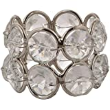 Tiger54 Brass Napkin Rings for Weddings, Dinners, Parties, or Everyday Use, Pack of 6, Crystal