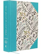 NKJV, Journal the Word Bible, Large Print, Cloth over Board, Blue Floral, Red Letter: Reflect, Journal, or Create Art Next to Your Favorite Verses