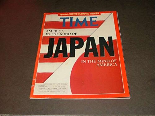 Time February 10, 1992 Winter Olympics, Japan America Mind Games