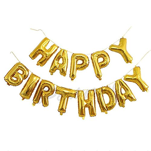 Happy Birthday Balloons,Aluminum Foil Banner Balloons for Birthday Party Decorations and Supplies (It Is Your Birthday Banner)