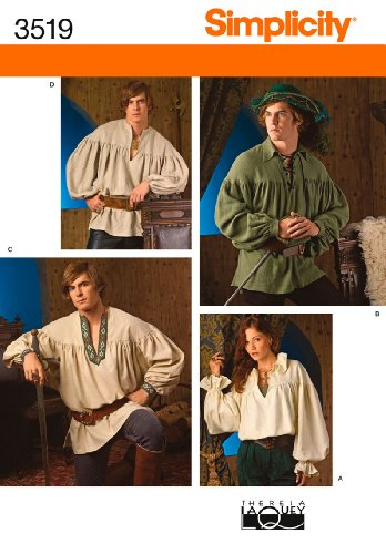 Simplicity Sewing Pattern 3519 Misses, Men and Teen Costumes, A (XS-S-M-L-XL) -