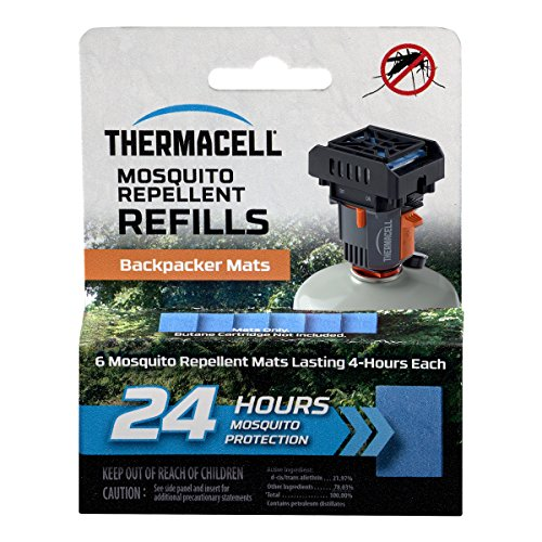 Thermacell M-24 Backpacker Mat-Only Refill, 24 Hour Pack (6 Repellent Mats)