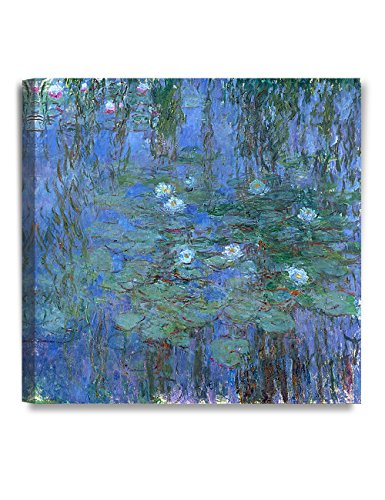 DecorArts - Water Lilies 1916-1919, Claude Monet Art Reproduction. Giclee Canvas Prints Wall Art for Home Decor 16x16