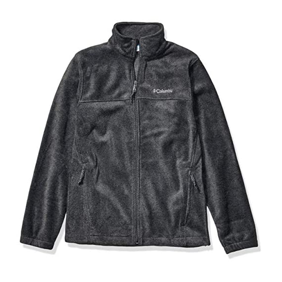 Columbia-Mens-Steens-Mountain-Full-Zip-20-Soft-Fleece-with-Classic-Fit-Charcoal-Heather-Small