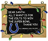 Indianapolis Colts Resin Chalkboard Sign Ornament