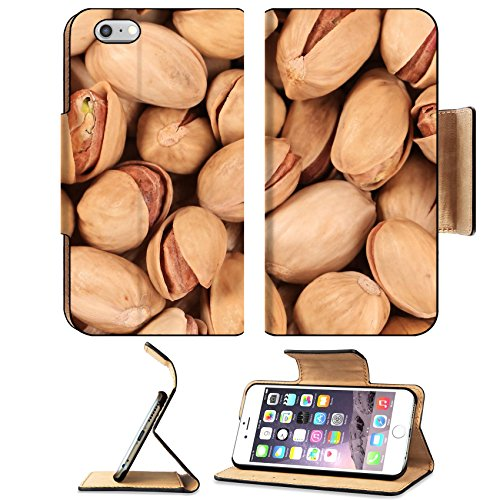 Luxlady Premium Apple iPhone 6 Plus iPhone 6S Plus Flip Pu Leather Wallet Case IMAGE ID 25447703 Close up of fresh pistachios Whole background