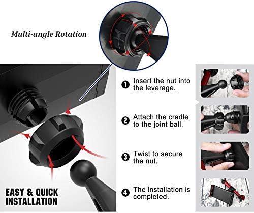 URUTOREO Universal Gravity Air Vent Phone Car Mount Holder Free Angle Rotation for Mobile Phone,XS MAX//X//8//7//6s//Plus//5S//4S Samsung S8//S7//S6//Note 8 and Other Smartphones Black